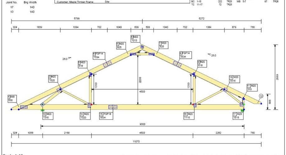 Cerchas de cubiertas timber frame en espa a - Cerchas metalicas para cubiertas ...